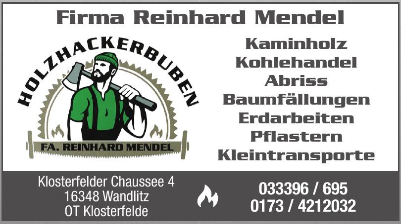 Firma Reinhard Mendel