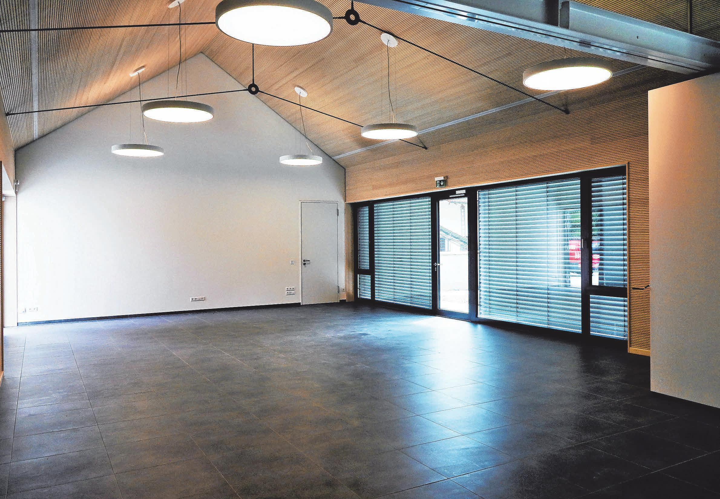 Gemeindesaal im Neubau des Dalkinger Gemeindehauses.