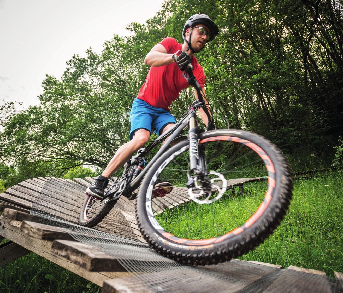 Mountainbike-Action in der Eifel.