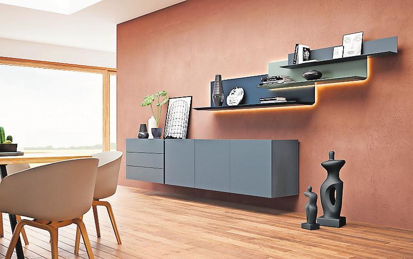 Das Sideboard kann im Essbereich für Geschirr, Besteck, Tischwäsche und Co. genutzt werden.FOTO: VDM/INTERLÜBKE