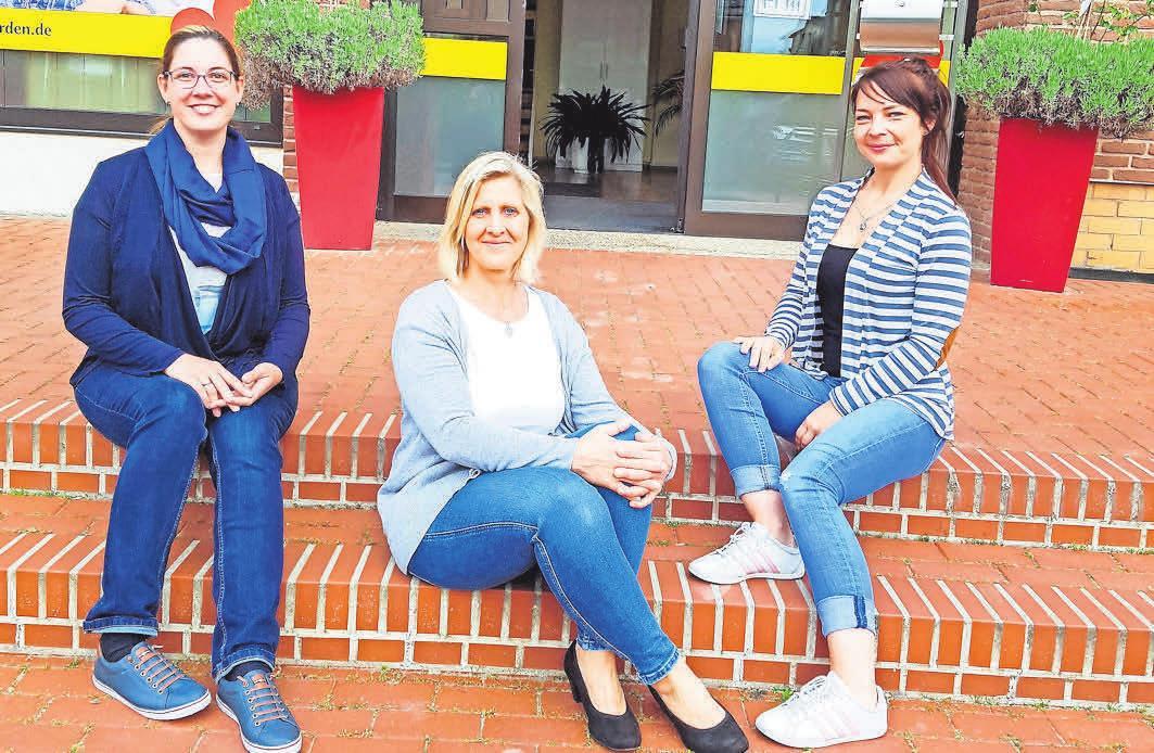 Die neue Pflegedienstleitung Jasmin Kafke (von links), Karin Steffen und Nathalia Swigon.
