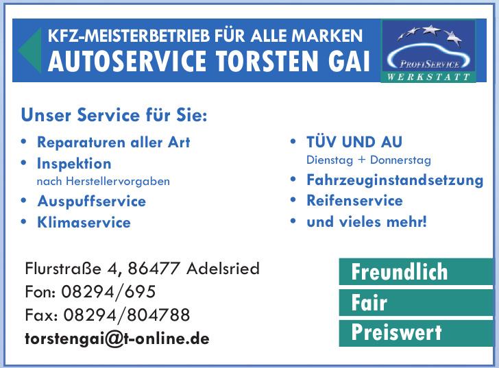 Autoservice Torsten Gai