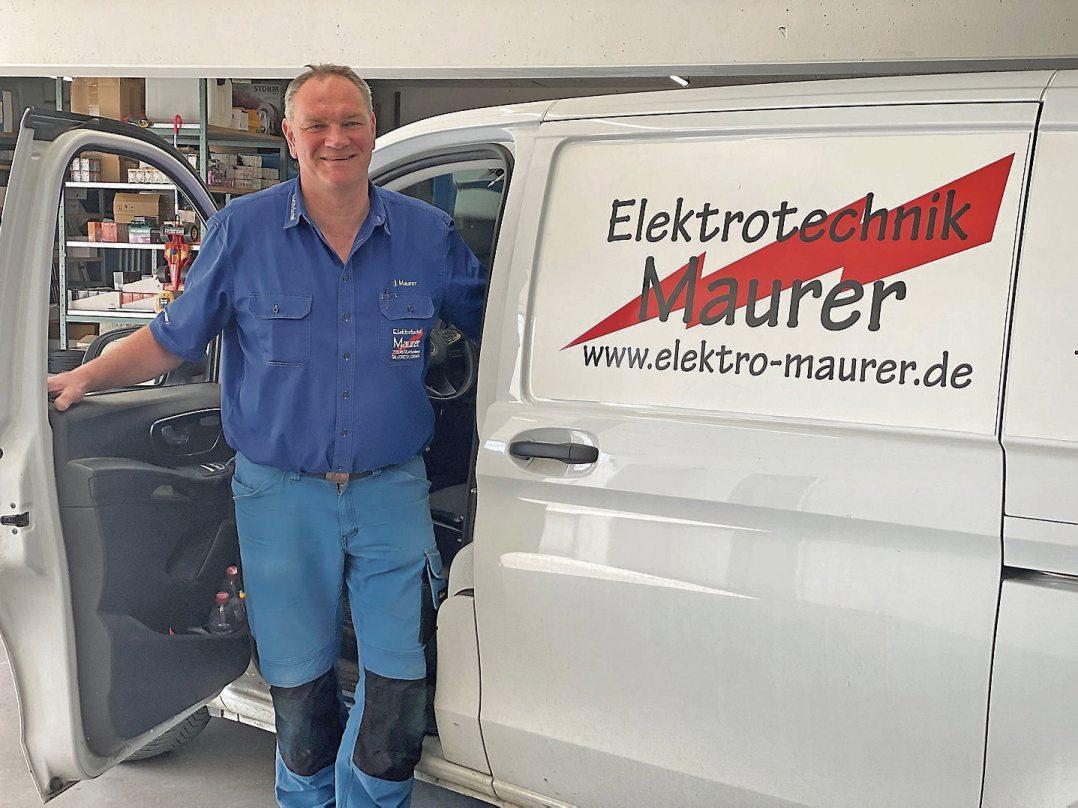 Jörg Maurer auf dem Sprung zum Kunden