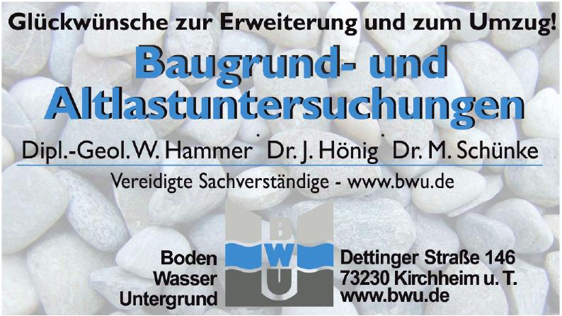 BWU Boden Wasser Untergrund