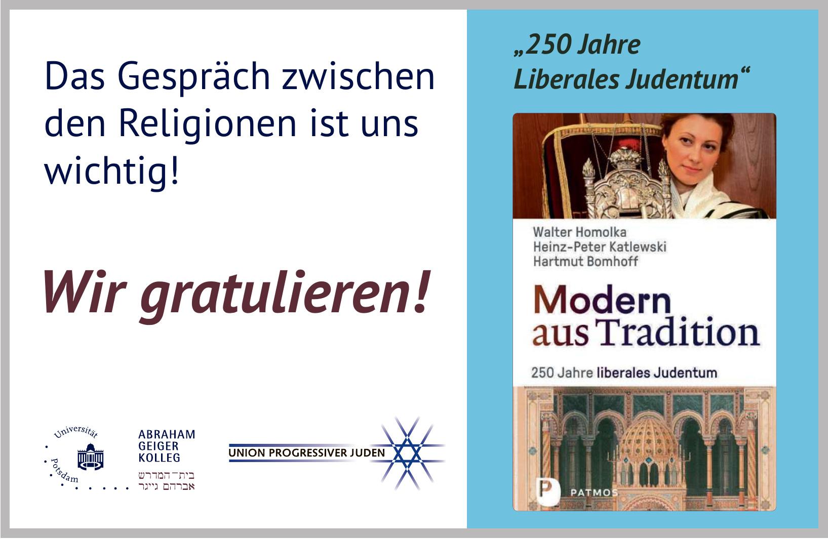 Patmos Verlag - Modern aus Tradition: 250 Jahre liberales Judentum