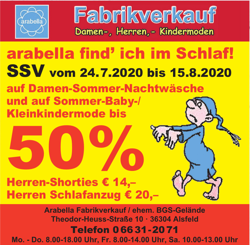 Arabella Fabrikverkauf