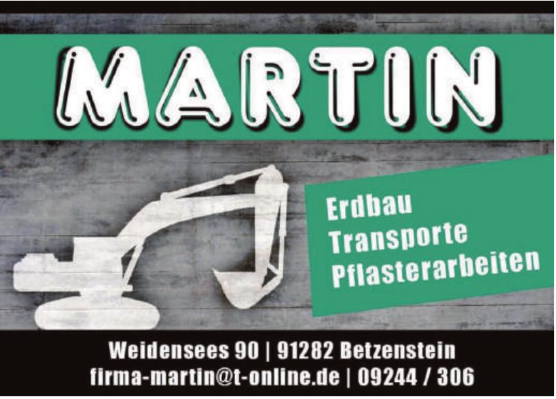 Martin Erbau, Transporte, Pflasterarbeiten