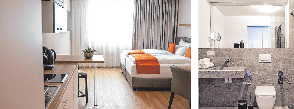 Die Suiten sind mit 25 m2 bis 45 m2 Fläche im Verhältnis zu gewöhnlichen Hotelzimmern sehr groß.FOTOS: BODENSEEZEIT