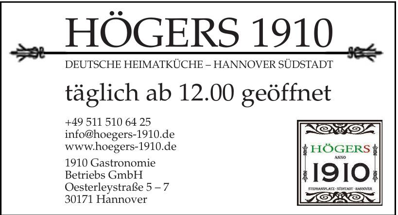 1910 Gastronomie Betriebs GmbH