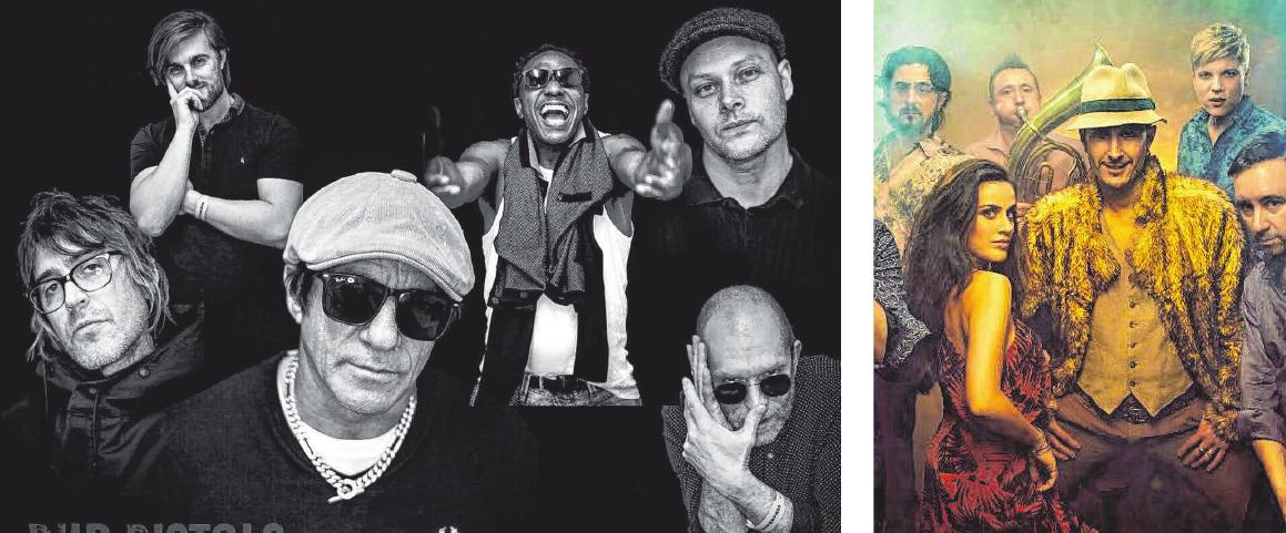 Die Dub Pistols sind eine Big Beat-Band aus West-London, die insbesondere für ihre Remixe bekannt ist. Zu den Kunden gehören Gruppen wie Bush, Korn und Moby. Darüber hinaus veröffentlichten die Dub Pistols mittlerweile vier Alben sowie eine Vielzahl EPs unter eigenem Namen. Sie spielen am Samstag ab 23.15 Uhr. Die Berliner Formation Mr. Žarko um den serbischen Gitarristen und Sänger Žarko Jovašević spielt Lieder von Lachen, Schmerz, Tanz und Tränen – am Samstag ab 21.30 Uhr.