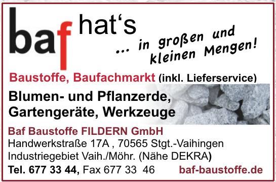 baf Baustoffe Fildern GmbH