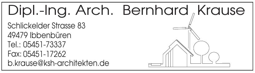 Dipl.-Ing. Arch. Bernhard Krause