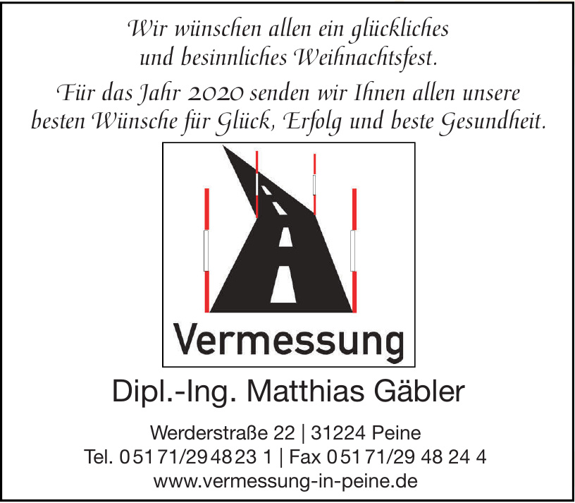 Vermessung - Vermessungsingenieur Dip.-Ing. Mathias Gäbler