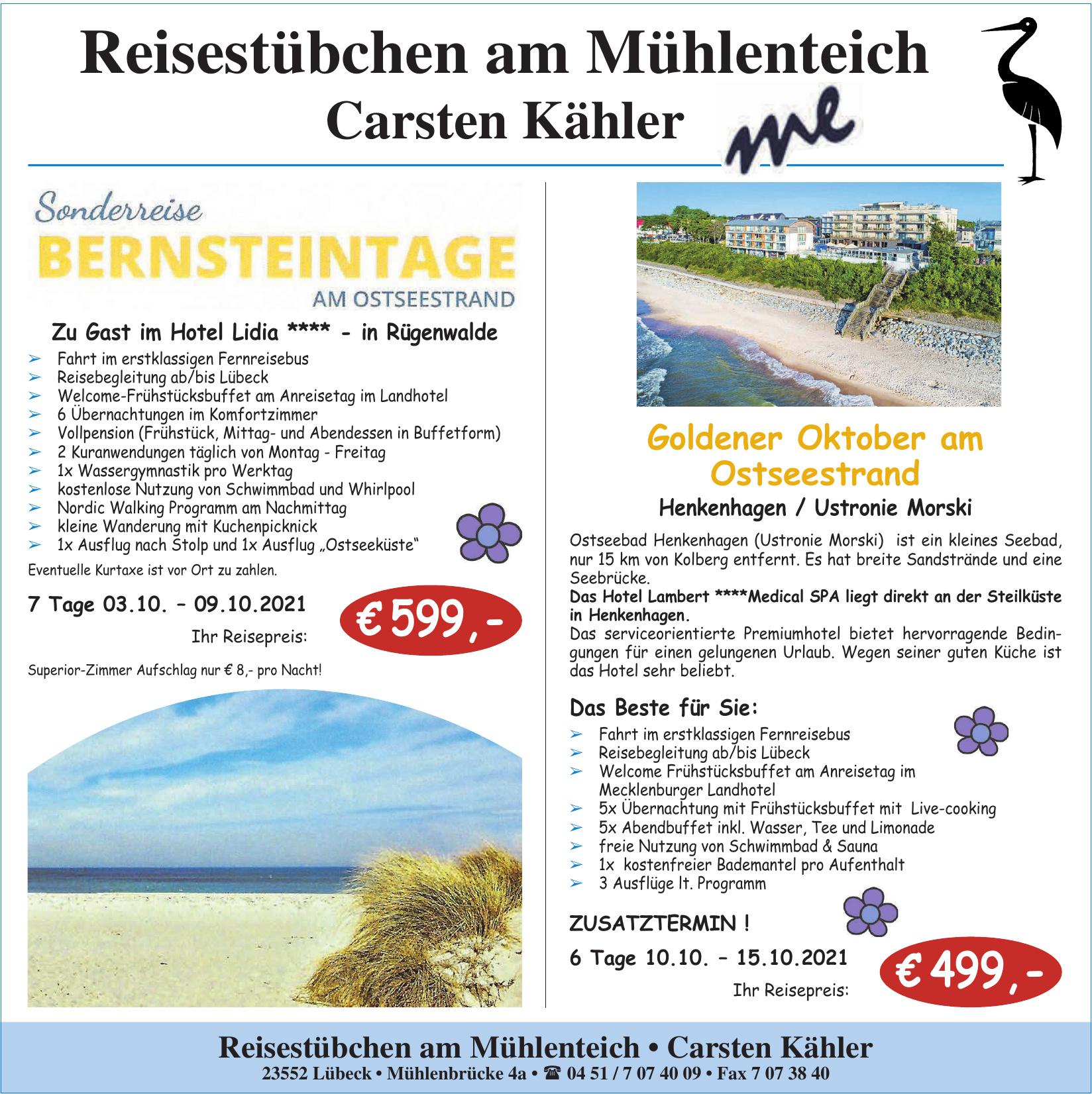 Reisestübchen am Mühlenteich - Carsten Kähler