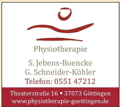 S. Jebens-Boencke, G. Schneider-Köhler