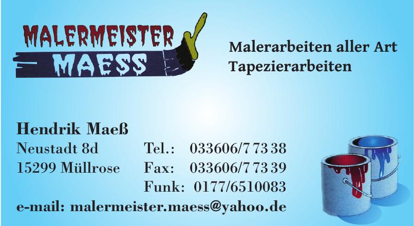 Malermeister Maess