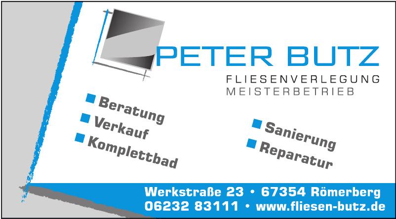 Peter Butz Fliesenverlegung Meisterbetrieb