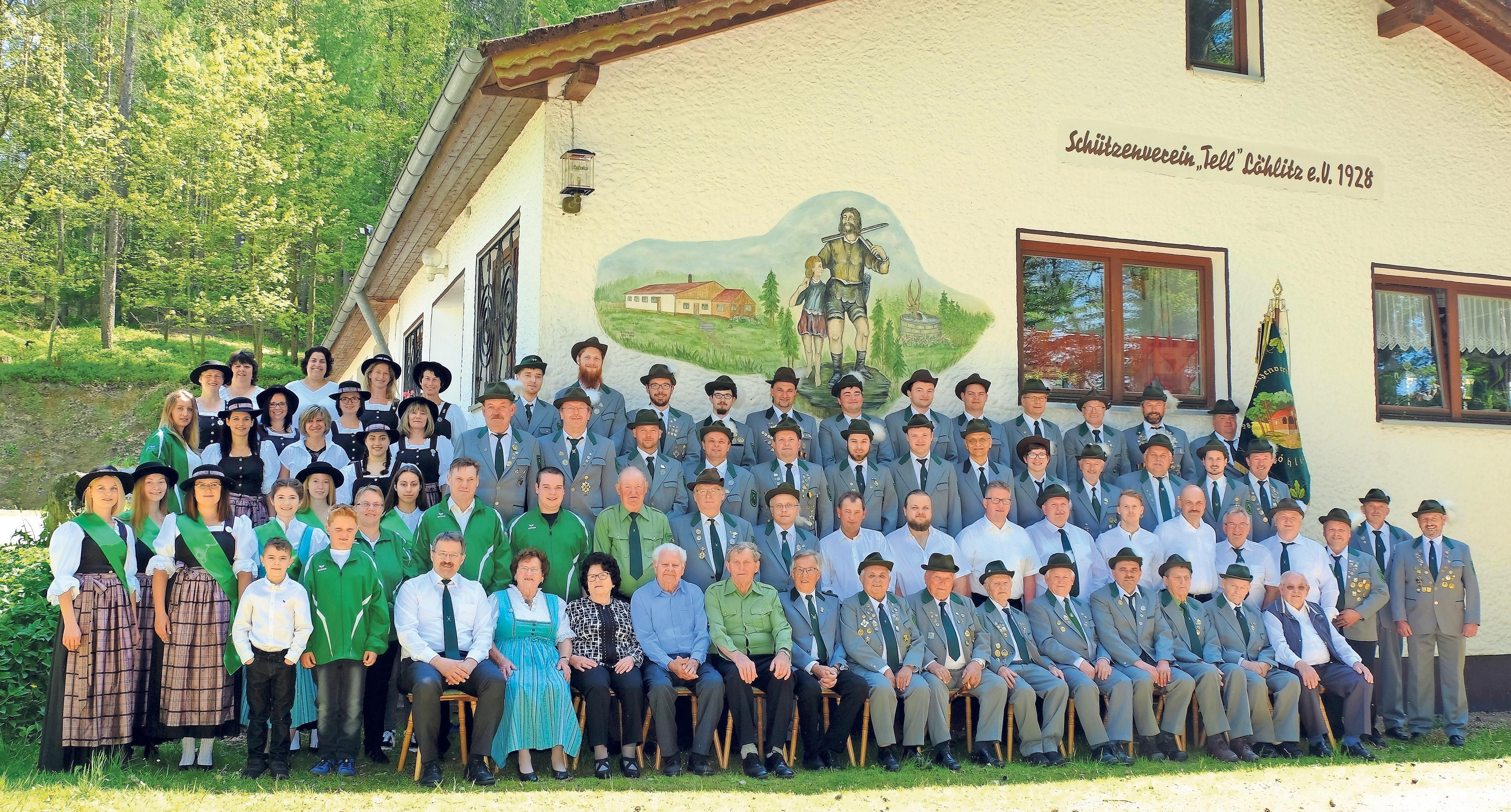 Der Schützenverein Tell Löhlitz feiert 90-Jähriges. Höhepunkte der Festtage sind das Gauböllertreffen am Samstag und der Gaufestumzug am Sonntag. Foto: Schützenverein