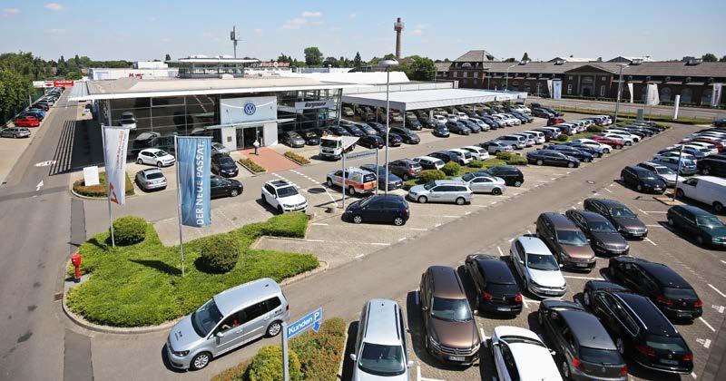 Das Autohaus Borgmann in Krefeld hat die gesamte Modellpalette von Volkswagen im Programm.