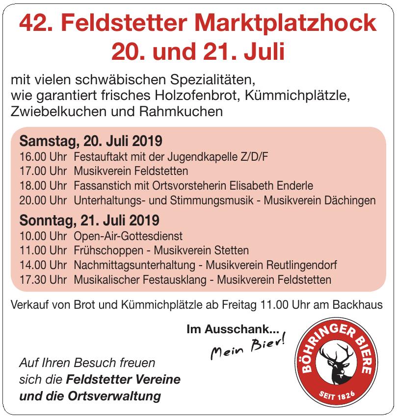 42. Feldstetter Marktplatzhock