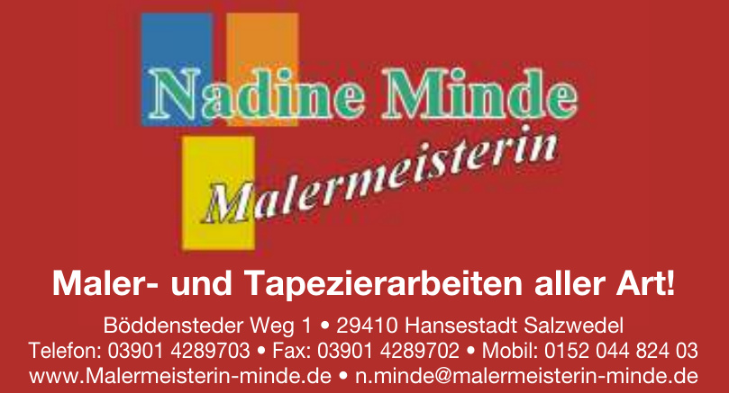 Malermeisterin Nadine Minde