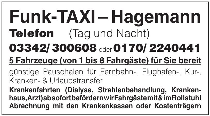 Funk-Taxi-Hagemann