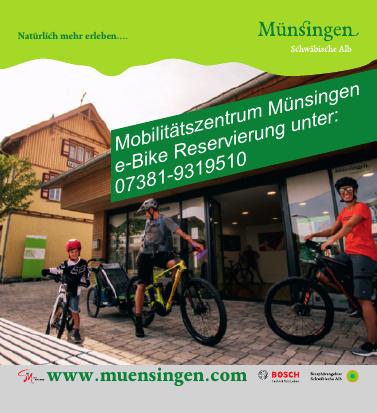 Mobilitätzentrum Münsingen e-Bike