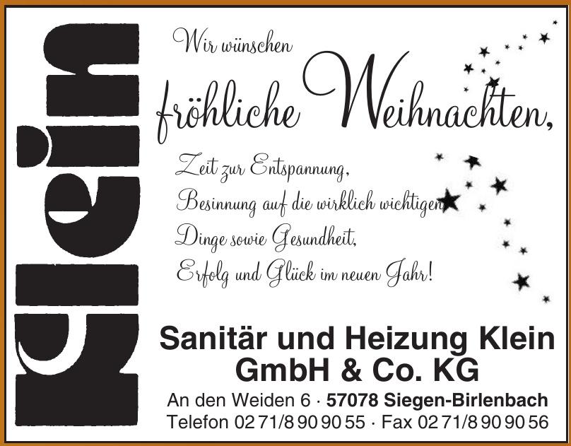 Sanitär und Heizung Klein GmbH & Co. KG