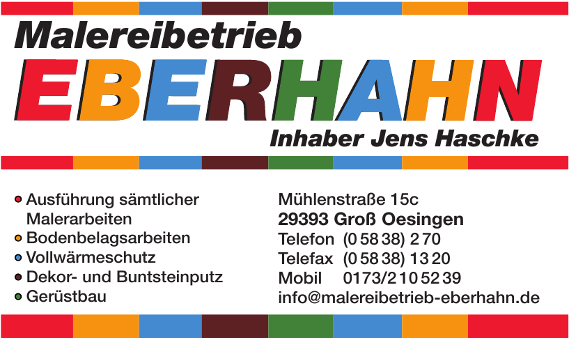 Malereinbetrieb Eberhahn
