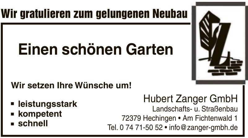 Hubert Zanger GmbH Landschafts- u. Straßenbau