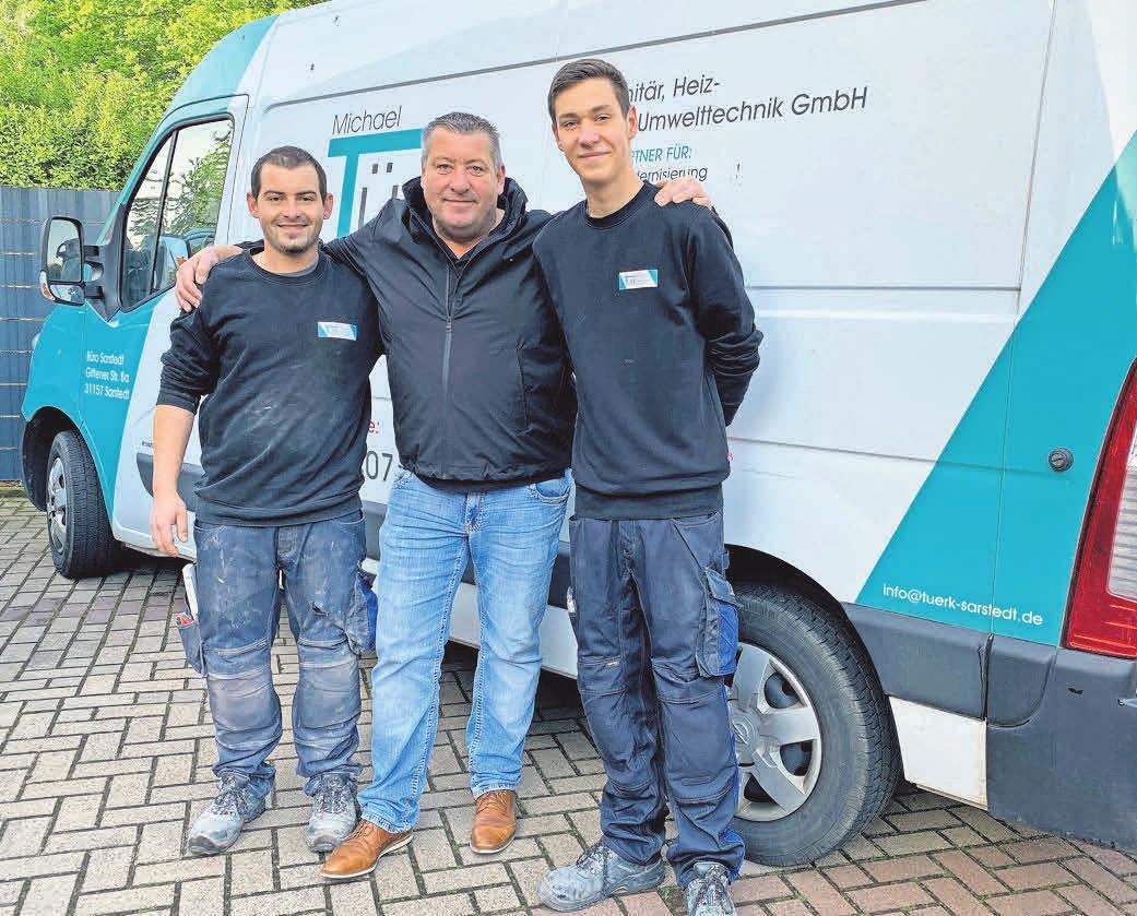 Die nächste Generation ist bereits am Start: Michael Türk und seine Söhne Sascha (links) und Jan.