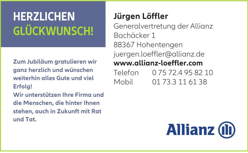 Jürgen Löffler, Generalvertretung der Allianz