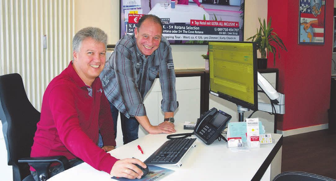 Thomas und Michael Ilsemann haben ihr Reisebüro vor 25 Jahren gemeinsam eröffnet.