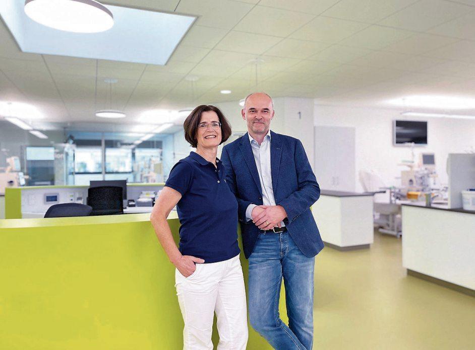 Dr. Antje Gehlen, Leiterin der Dialysestation Rottenburg und Dr. Frank Gehlen.