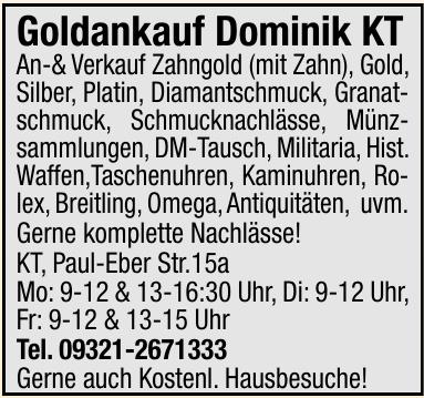 Goldankauf Dominik KT