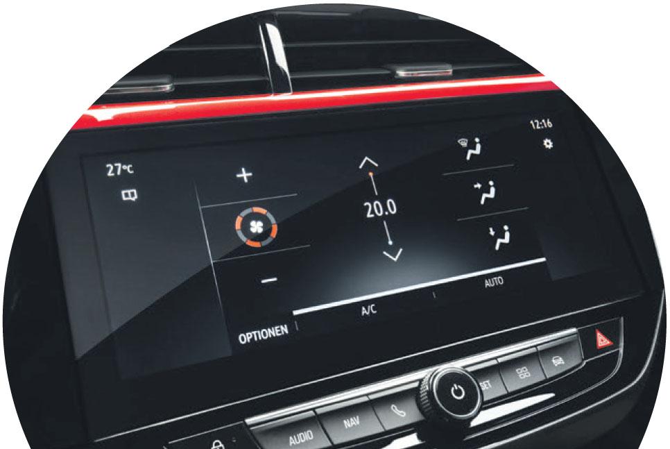 Bestens vernetzt und unterhalten: dank dem Multimedia-Navi mit Touchscreen