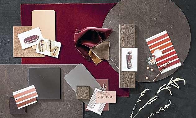 Die von BoConcept konzipierten Mood-Boardsmachen die Ideen visuell und zum Teil haptisch erlebbar.FOTO: BOCONCEPT