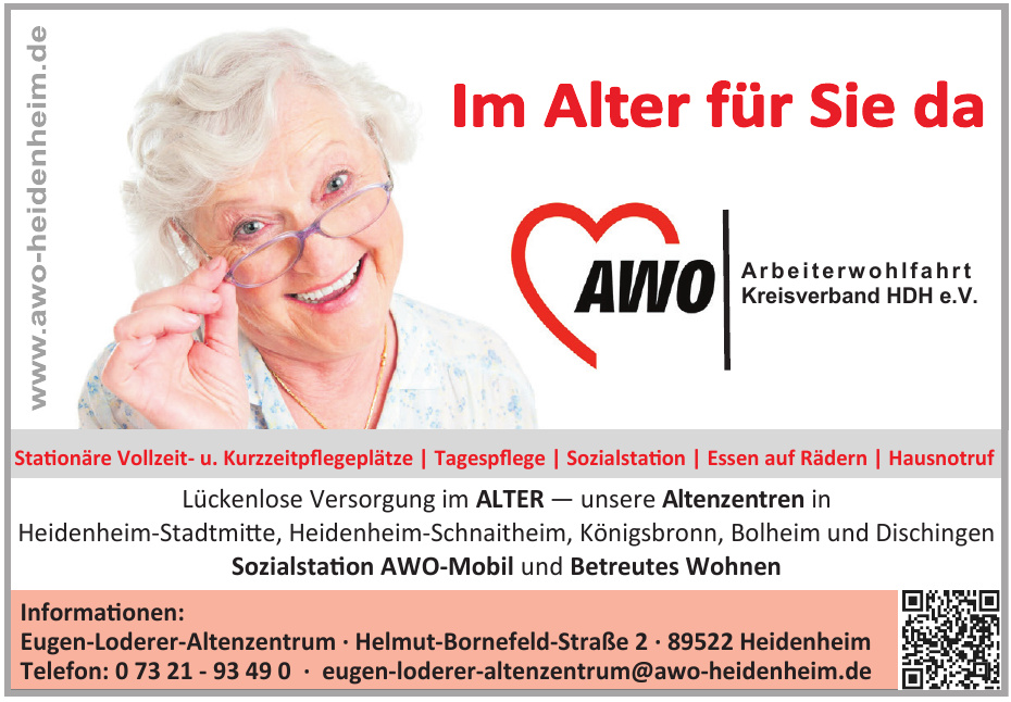 AWO Arbeiterwohlfahrt Kreisverband HDH e.V. - Eugen-Loderer-Altenzentrum