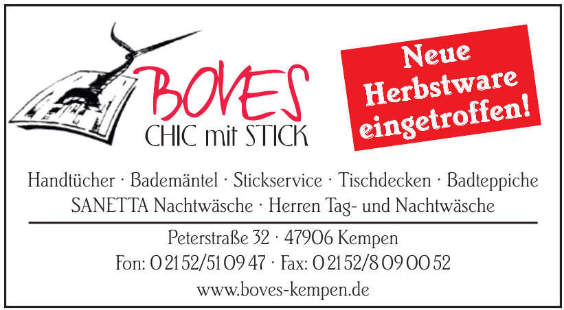 Boves – Chic mit Stick