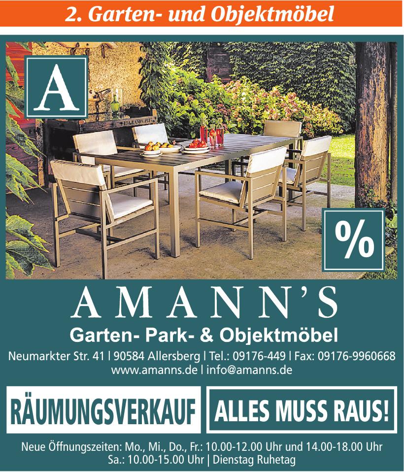 Amann´s - Garten- Park- & Objektmöbel