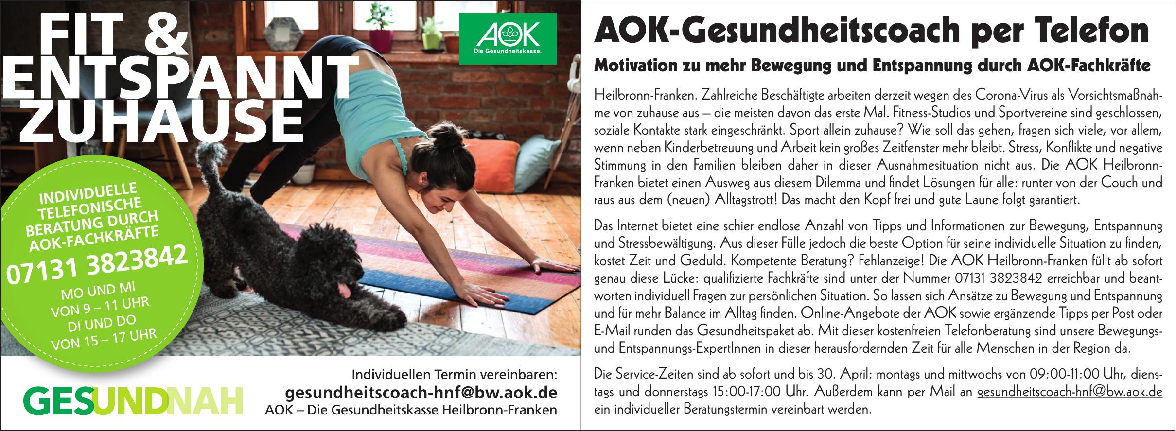AOK - Die Gesundheitkasse