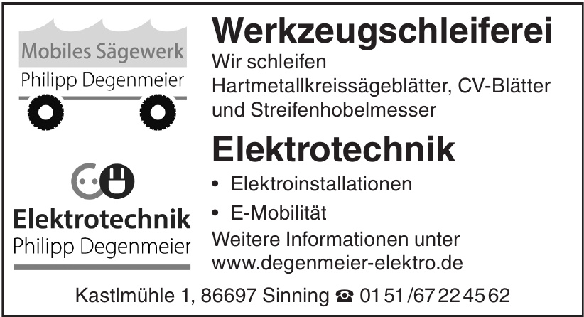 Elektrotechnik Philipp Degenmeier