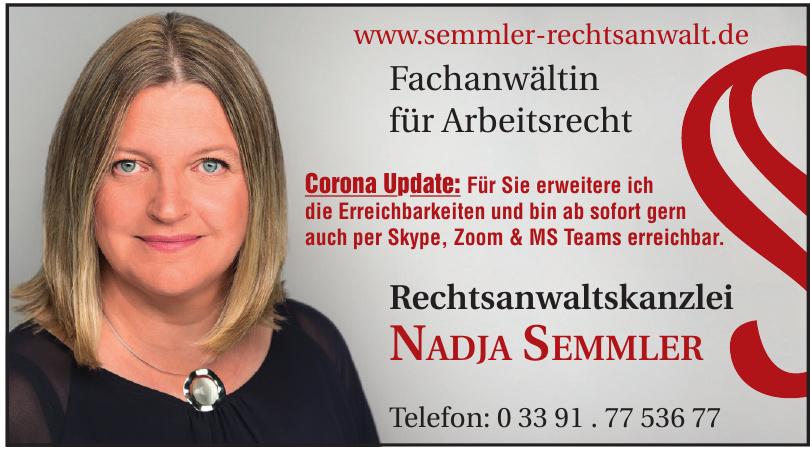 Fachanwältin für Arbeitsrecht Nadja Semmler