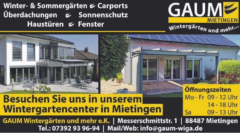 GAUM Wintergärten und mehr e. K