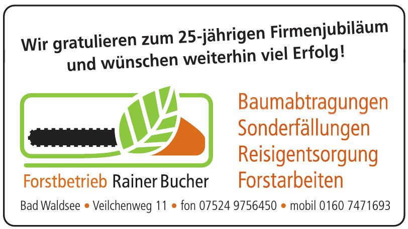 Rainer Bucher Forstbetrieb