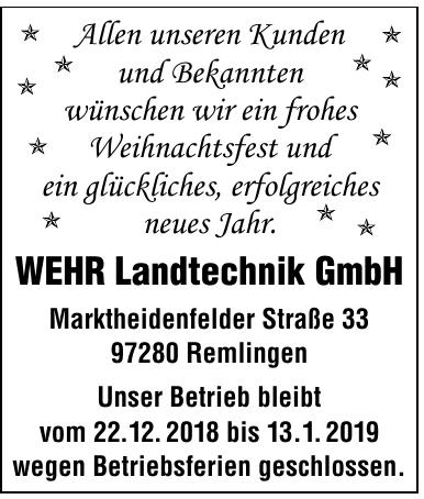 WEHR Landtechnik GmbH