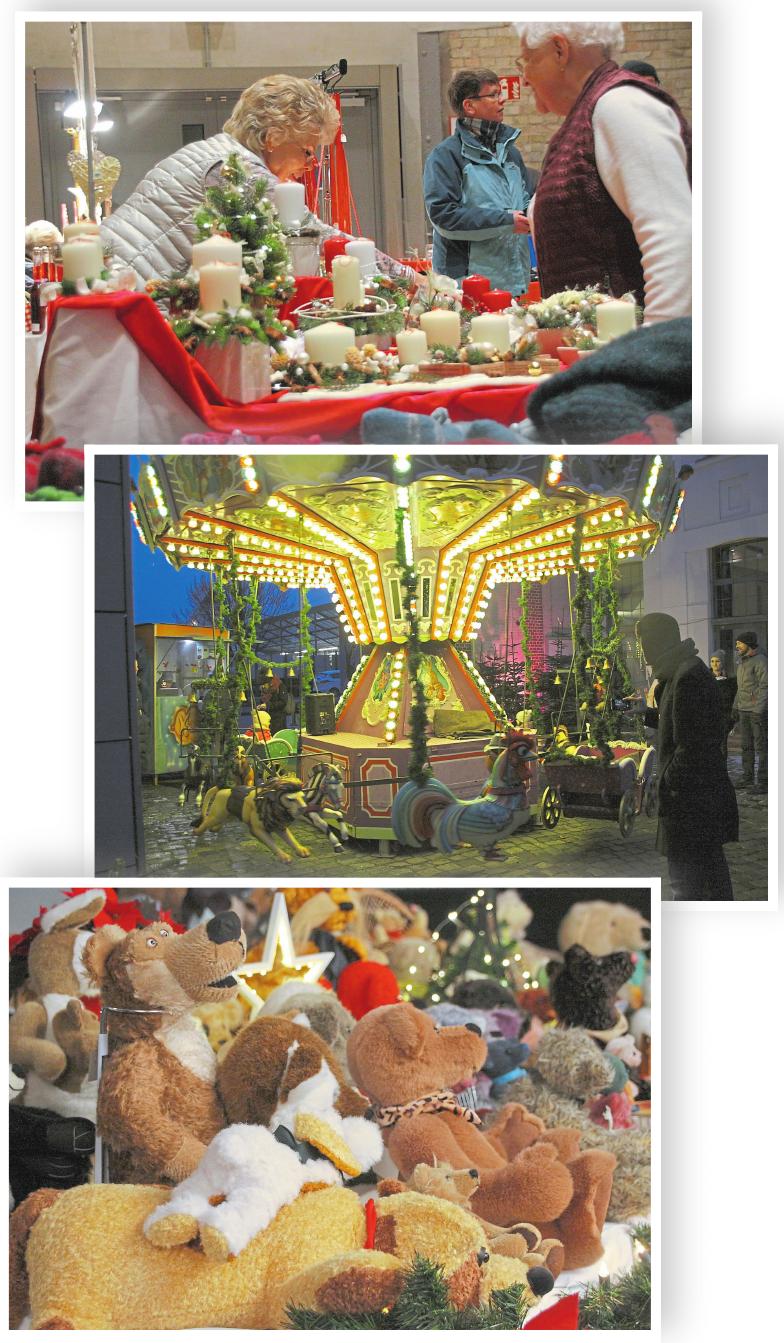 Kunsthandwerk im Ballenlager und der Kulturschmiede, ein Karussell im Innehof – der Weihnachtsmarkt hat eine Menge zu bieten.