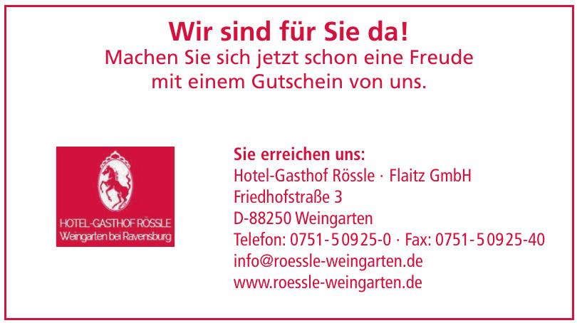 Hotel-Gasthof Rössle · Flaitz GmbH