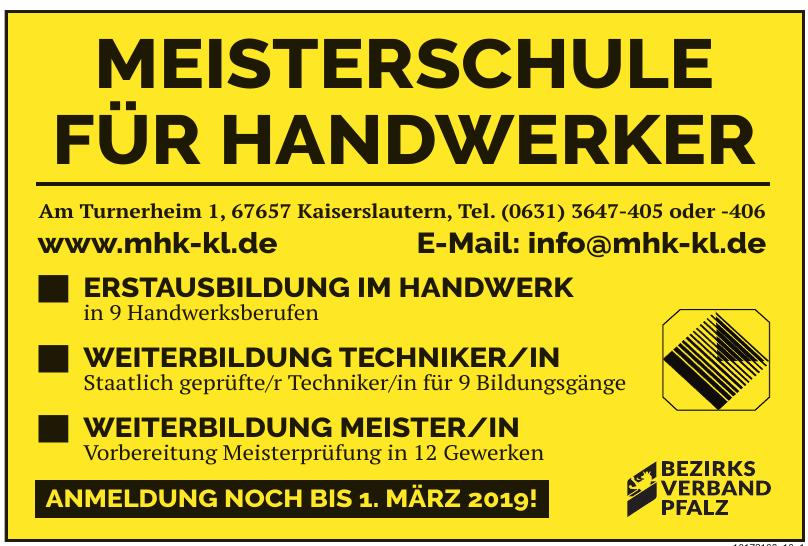 Meisterschule für Handwerker
