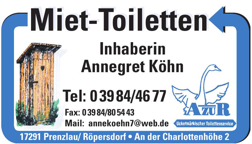 Miet-Toiletten